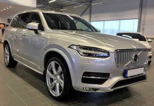 Silvermetallic Volvo XC90 T8 AWD Inscription stulen i centrala Stockholm